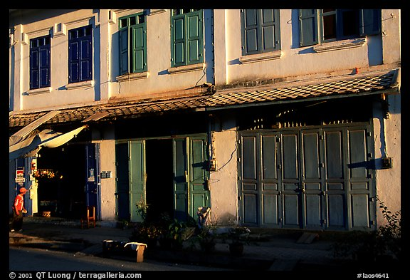 Old colonial houses. Luang Prabang, Laos