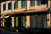 Old colonial houses. Luang Prabang, Laos (color)