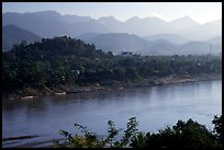 The town accross the Mekong river. Luang Prabang, Laos ( color)