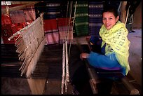 Traditional weaving in Ban Xang Hai village. Laos