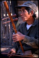 Traditional musician, Ban Xan Hai. Laos (color)