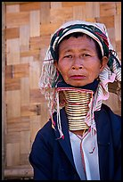 Old Padaung Woman,  Kalaw. Shan state, Myanmar (color)