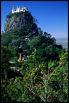 Complex of monestaries on a volcanic spire. Mount Popa, Myanmar (color)