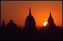 Sunrise. Bagan, Myanmar (color)