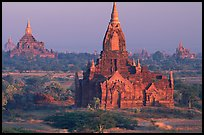Ancient sacred city seen from Dhammayazika. Bagan, Myanmar ( color)