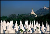 Stupas at Sandamani Paya and Mandalay Hill. Mandalay, Myanmar ( color)