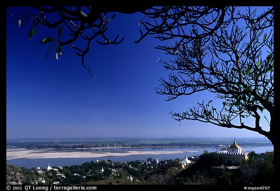 View from Sagaing Hill. Myanmar (color)
