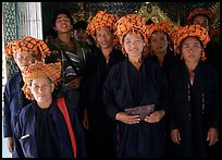 Women from Shan state visiting. Myanmar