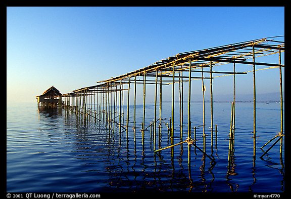 Stilts huts. Inle Lake, Myanmar (color)