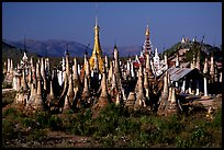 Stupas, Indein. Inle Lake, Myanmar ( color)