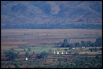 Stupas in the Heho plain. Shan state, Myanmar ( color)
