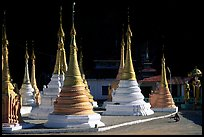 Stupas in Kalaw. Shan state, Myanmar ( color)
