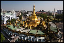 City Hall, Sule Pagoda, and Independence Monument. Yangon, Myanmar ( color)