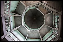 Looking up tower ceiling in colonial-area building. Yangon, Myanmar ( color)