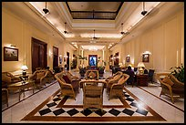 Lobby of the Strand Hotel. Yangon, Myanmar ( color)