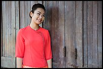 Young woman. Yangon, Myanmar ( color)
