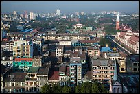 City view from above. Yangon, Myanmar ( color)