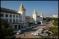 Central train station. Yangon, Myanmar ( color)