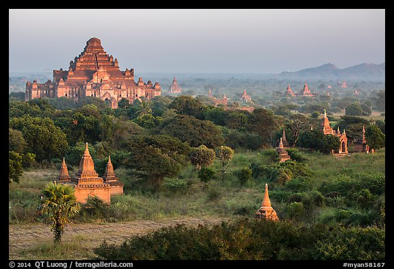 View from Shwesandaw. Bagan, Myanmar (color)