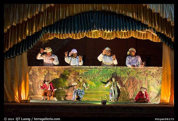 Burmese String Puppet Show Bagan Myanmar