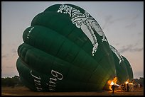 Hot air balloons being inflated. Bagan, Myanmar ( color)