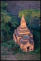 Aerial view of a small temple. Bagan, Myanmar ( color)