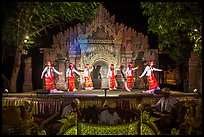 Traditional dance and musical performance. Bagan, Myanmar ( color)