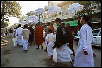 Alms procession. Mandalay, Myanmar ( color)