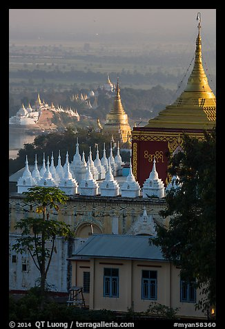 Pagodas on Sagaing Hill. Myanmar (color)