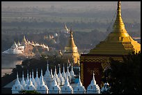 Stupas and Ayeyarwady river seen from Sagaing Hill. Myanmar ( color)