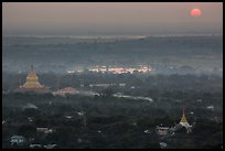 Sunset from Sagaing Hill. Myanmar ( color)