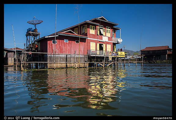 House on stilts. Inle Lake, Myanmar (color)