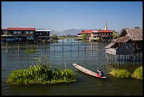 Canal intersection. Inle Lake, Myanmar ( color)