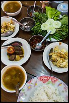Typical Burmese lunch. Bago, Myanmar ( color)