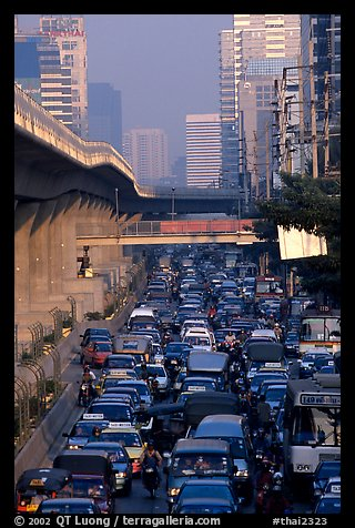 Traffic jam. Bangkok, Thailand (color)