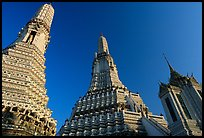 Towers of the Wat Arun. Bangkok, Thailand ( color)