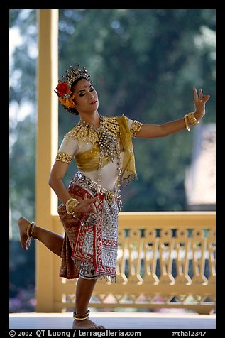 Traditional dancer. Bangkok, Thailand (color)