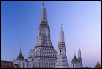 Wat Arun, temple of dawn named after Indian god of dawn. Bangkok, Thailand (color)