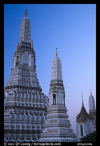 Prang of Wat Arun at dawn. Bangkok, Thailand