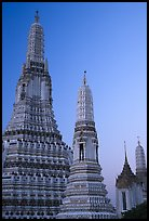 Prang of Wat Arun at dawn. Bangkok, Thailand (color)