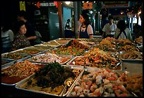 Variety of spicy foods in a market. Bangkok, Thailand (color)