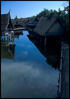 Village along canal. Muang Boran, Thailand ( color)