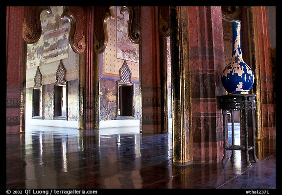Palace interior. Muang Boran, Thailand (color)
