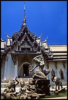 Temple in Ayuthaya style. Muang Boran, Thailand ( color)