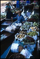 Fruit for sale, floating market. Damonoen Saduak, Thailand (color)