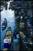 Canal from above, floating market. Damonoen Saduak, Thailand ( color)