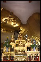 Head of reclining buddha, Phra Pathom Wat. Nakkhon Pathom, Thailand ( color)