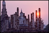 Wat Mahathat at sunset. Sukothai, Thailand ( color)
