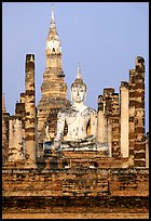 Wat Mahathat, morning. Sukothai, Thailand (color)