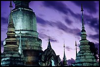 Wat Suan Dok temple at dusk. Chiang Mai, Thailand ( color)
